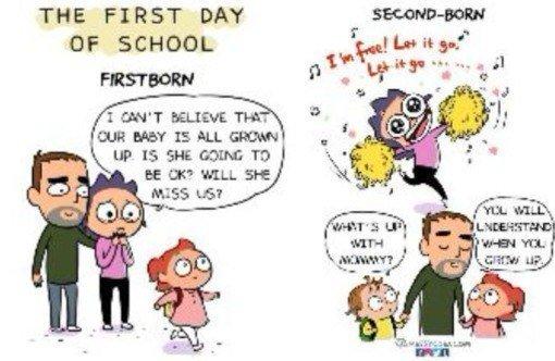 Bedanya perlakuan orangtua Hari pertama sekolah anak pertama dan kedua