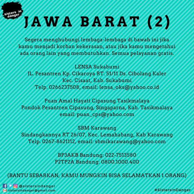 Kontak lapor KDRT Jawa Barat 2